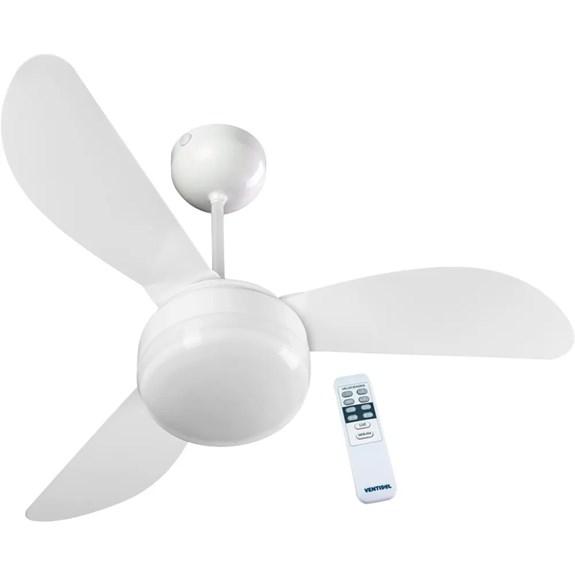 Ventilador de Teto Fenix com Controle 127V   Ventisol   Branco 