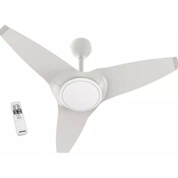 Ventilador de Teto Flow 127V   Ventisol   Com Luminária   Controle   Branco 